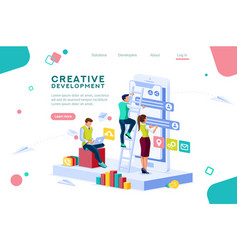 career application concept isometric vector image