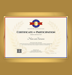 Certificate template inl sport theme with gold vector