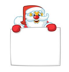 christmas cartoon santa claus vector image