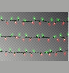 christmas lights string isolated realistic garlan vector image