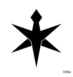 Coat arms chiba is a japan prefecture emblem vector
