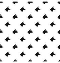 Collie dog pattern simple style vector