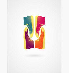 colorful sneakers typographic vintage poster vector image