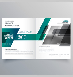 Company bifold brochure design template cover vector