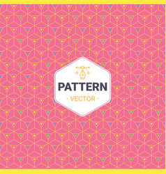Completely seamless abstract cube pattern vector
