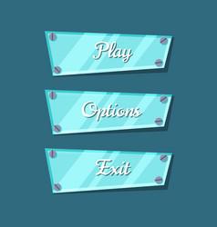 Computer game menu interface cartoon collection vector