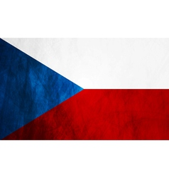 Czech grunge flag vector image