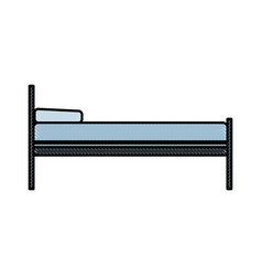 Drawing bed pillow hospital care health image vector