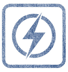 Electricity fabric textured icon vector