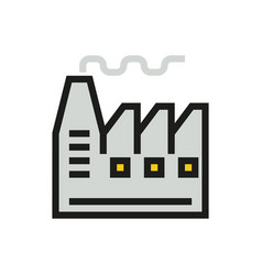 factory icon on white background vector image