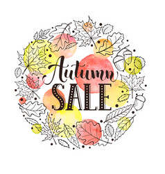 fall sale card vector image