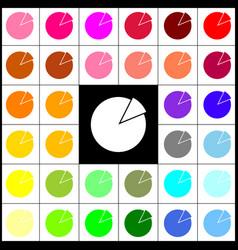 finance graph sign felt-pen 33 colorful vector image