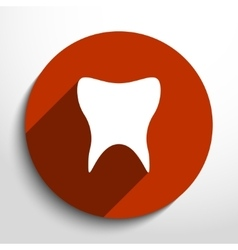 Flat icon of tooth vector
