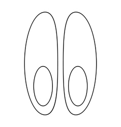 Funeral shoes icon outline style vector