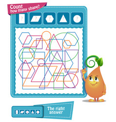 game how many shapes vector image