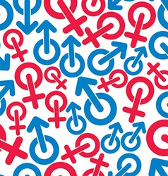 Gender symbols sexual category theme seamless vector
