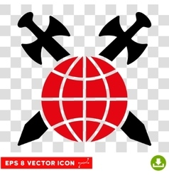 Global Protection Swords Eps Icon vector