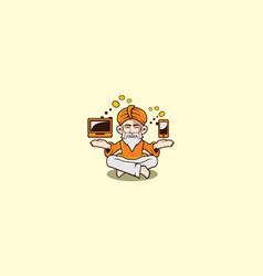 guru logo icon vector image