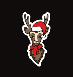 head of a reindeer vector image