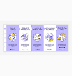Healthy eating habits onboarding template vector