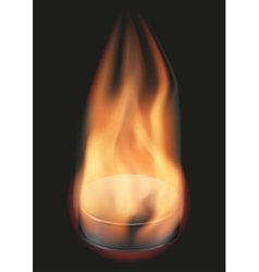Ice hockey ball with flame vector