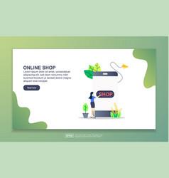 landing page template online shop modern flat vector image