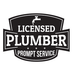 licensed plumber grunge rubber stamp vector image