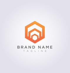 logo design abstract hexagon symbol vector image