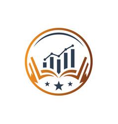 logo design financial marketing education vector image