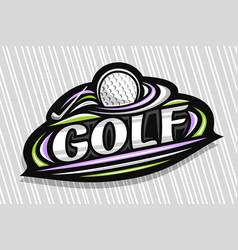 Logo for golf vector