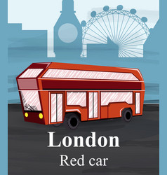 london red bus travel card flat style vector image
