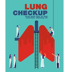 Lung checkup cover flat healthcare design vector image