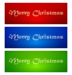 Marry Christmas banners vector