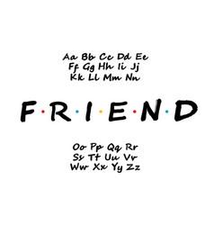 Modern bold font alphabet tv series vector