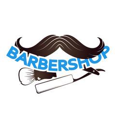 mustache for barbeshop symbol vector image