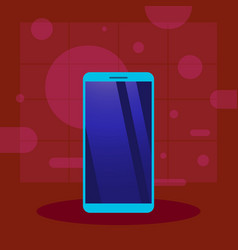 new model smartphone icon presentation design vector image