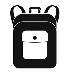 Notebook backpack icon simple style vector