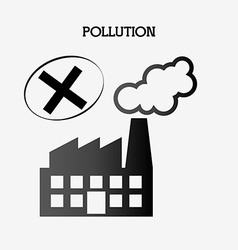 pollution from industry vector image