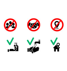 prevention icons vector image