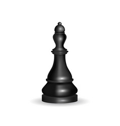 Realistic 3d chess black queen vector