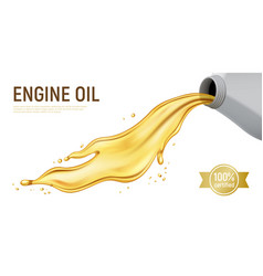 Realistic motor oil white background vector