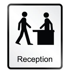 Reception Information Sign vector