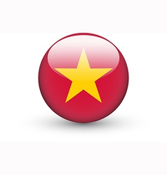 Round icon with national flag of Vietnam vector