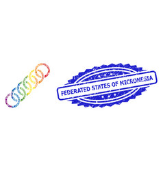 Rubber federated states micronesia stamp and vector