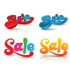 SALE text design set vector