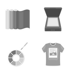 Scanner color palette and other equipment vector