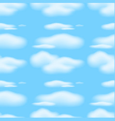 seamless background with clouds in blue sky vector image