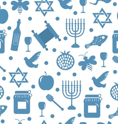 Seamless pattern texture for the Jewish new year vector