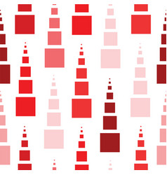 seamless pattern with squares in red colors vector image