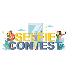 selfie contest flat style design vector image